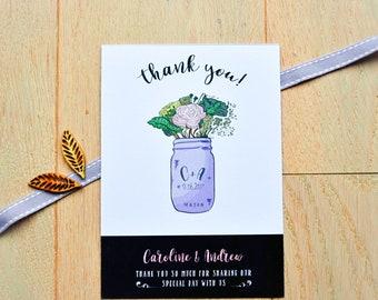 Thank You Cards - Mason Jar Delight