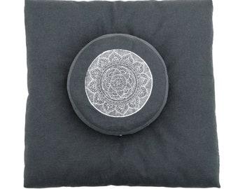 Meditation cushion set, meditation set, zabuton and zafu, meditation cushion, meditation altar, meditation room, zafu set, yoga, zafubuton