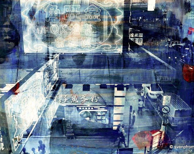 HONG KONG Streets IV by Sven Pfrommer - Artwork is ready to hang