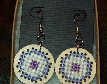 Hawkeye inspired bulls eye earrings.