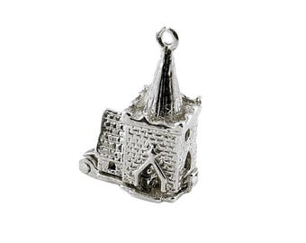 Sterling Silver Opening Wedding Church Charm For Bracelets