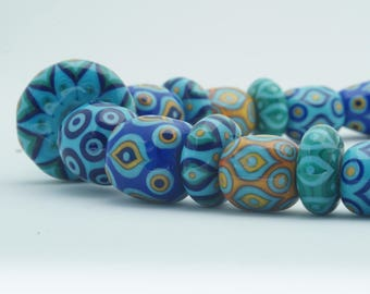 Marrakesh glass bead statement necklace