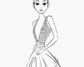 Fashion, Girl, Fine Art, Print