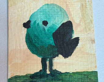 Original ACEO Oil Painting- Little Bird