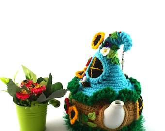 Fairy house teapot cosy Aromatic tea cozy Tea cozy Fairy-tale house Ready to ship House teapot