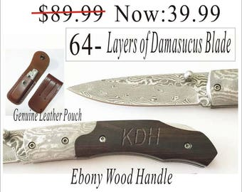 Set of 1 to 12 Bulk discount -Groomsman gift- Personalized Knives, Engraved Wood Knife -Damascus Knife Gifts for him, man, Father , Dad