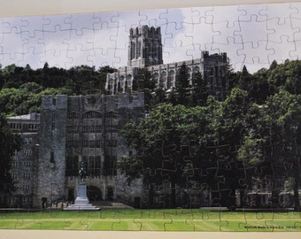 West Point puzzle - 150 pieces puzzle - 11 x 17 puzzle - Washington Hall USMA -  USMA Cadet Chapel - the West Point Plain