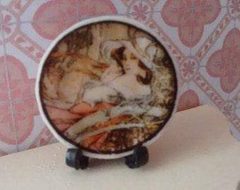 Dolls House miniature Art Deco Lady Plate