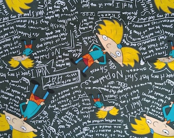 90s Cartoon Hey Arnold Nickelodeon Cotton Fabric BTY