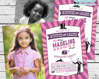 Magician Birthday Party Photo Invitation + Our 4 Favorite Printables!