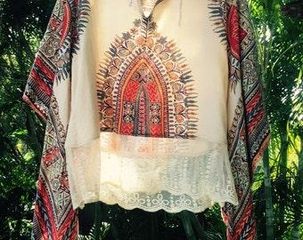 Vintage 70's dashiki indian top