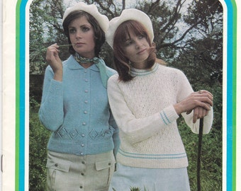 Paton's Knitting Pattern No 962  Ladies Look Lovely in Caressa (Vintage 1970s)