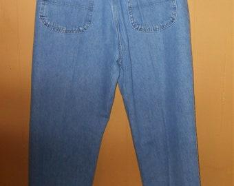 Vintage blue jeans Lee Riders high waisted five pocket carpenter back SZ 12 Petite