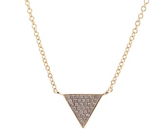 Triangle Pave Necklace