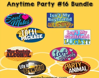 "Photo Booth Props | Party Signs | Anytime Party ""16"" 