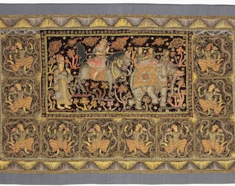 3 x 5 Myanmar Embroidered Kalaga Tapestry # 14375