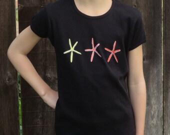 Child's Three Starfish Shirt