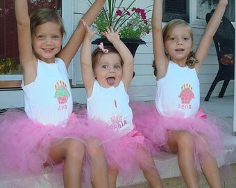 Custom Tutu Kids Set Personalized for Birthdays and Photo Sessions