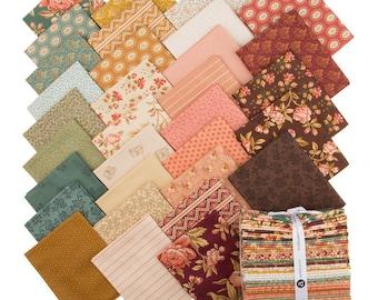 Andover Edyta Sitar Laundry Basket Quilts LBQ Crystal Farm Pink Blue Cream 32 Fat Quarter Bundle Fabric