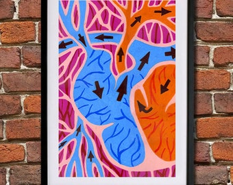 The Heart (Valentines Day) - Giclee Print (Unframed)