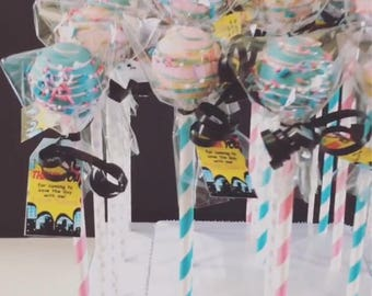 Girl Super Hero Themed Cake Pops