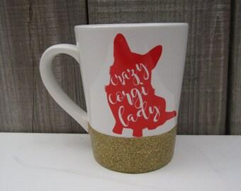 Cardigan or Pembroke Welsh Crazy Corgi Lady Coffee Mug