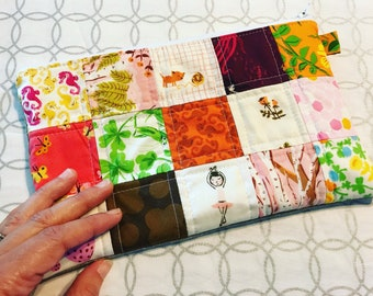 Heather Ross Quilted Zipper Pouch