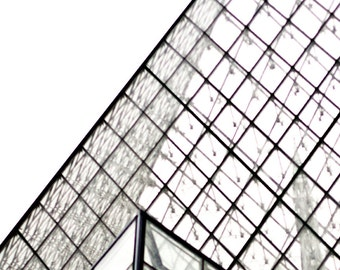 Unique PARIS Photography LOUVRE Glass. The Louvre Museum Photo, Black, White, Paris Architecture, Still Life, Triangle Architecture,