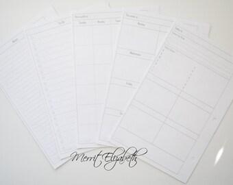 Basic Calendar Planner Kit - A5 Sized
