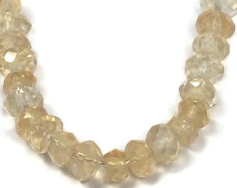 Natural Citrine Beads, Tiny Gemstone Rondelles, Faceted 3mm Natural Gemstones for Jewelry Making, 20 Count (L-Ci3)