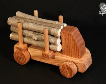 Wooden Logging Truck