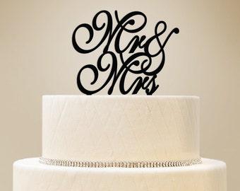 Wedding Cake Topper, Mr. & Mrs. Cake Topper - Set of 1