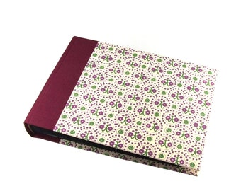 Photo Album burgundy Art-Deco, black pages photo book, wedding photo album, family album