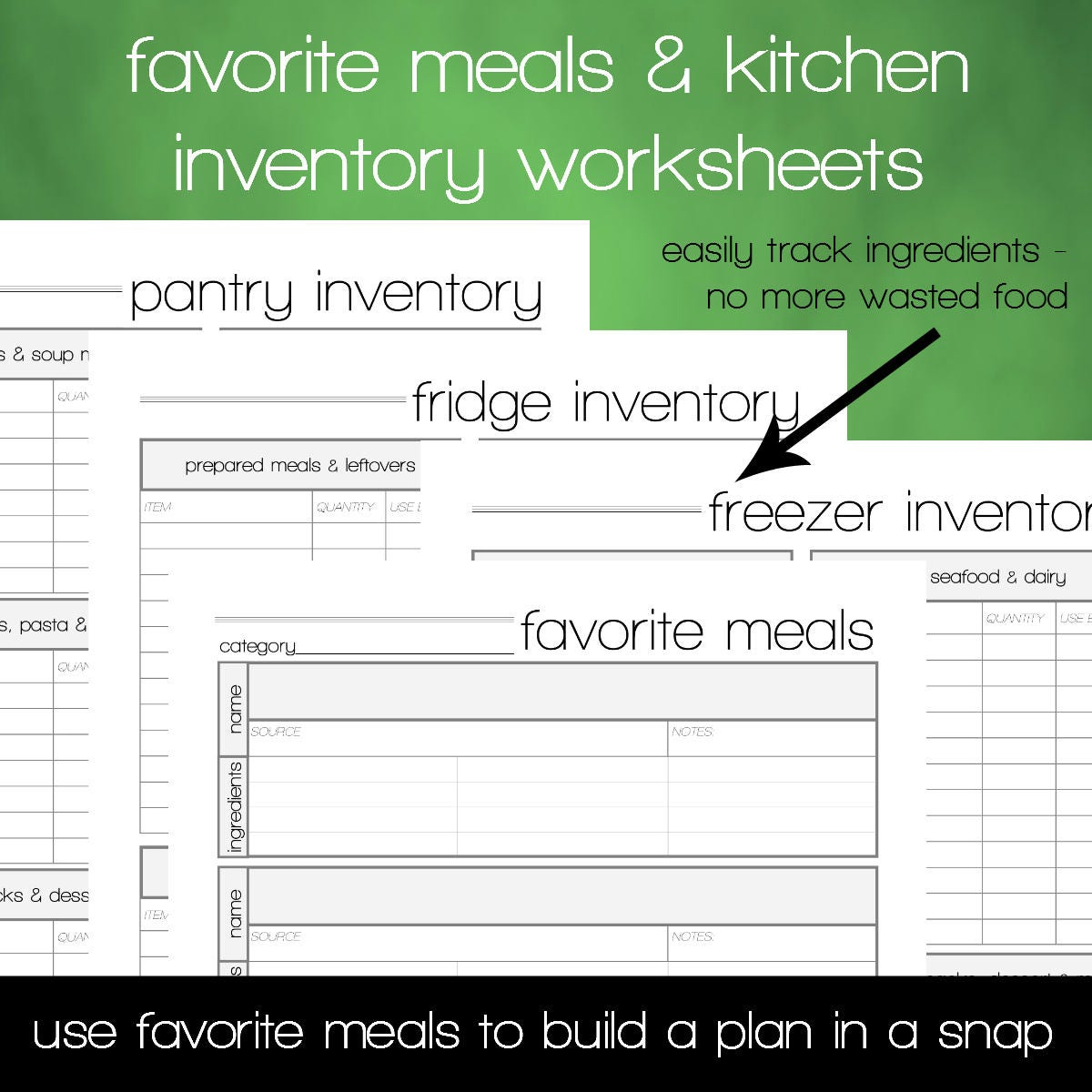 Meal Planning Printable - INSTANT DOWNLOAD - Menu Planning Guide ...