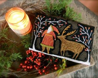 Santa Deer ~ Punch Needle PAttern from Notforgotten Farm™ ~ PDF/Downloadable