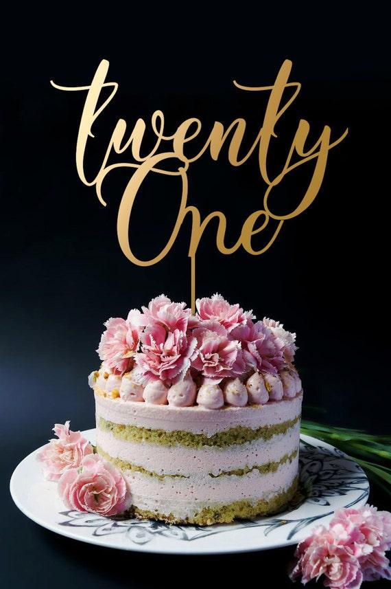 21st Birthday Cake Topper Custom Numbers Birthday Cake