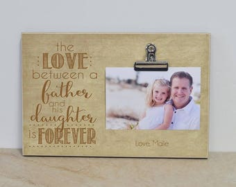 Father's Day Gift For Dad, Father and Daughter Picture Frame, Christmas Gift For Dad, Birthday Gift Idea, Wall Frame, Daddy Daughter Gift