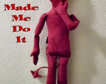 Primitive Folk Art Halloween Devil Doll Instant Download PDF EPattern
