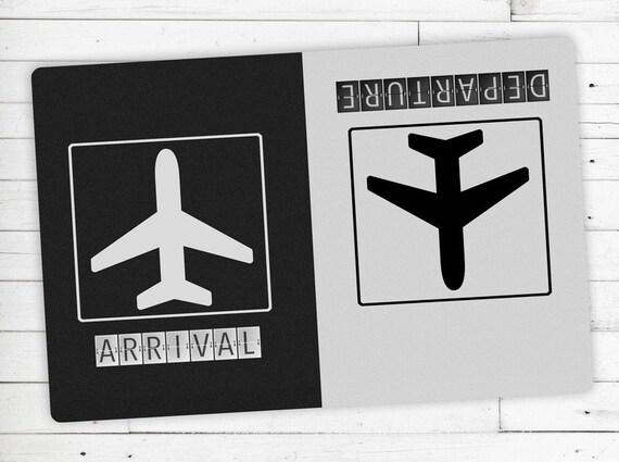 Foot Mat (Kicker) motif Arrival/Departure