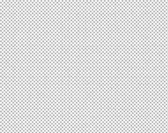 ON SALE Riley Blake Designs Kisses by Doodlebug Design Gray on White