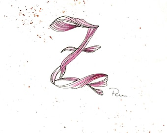 "Original illustration ""Letter Z"""