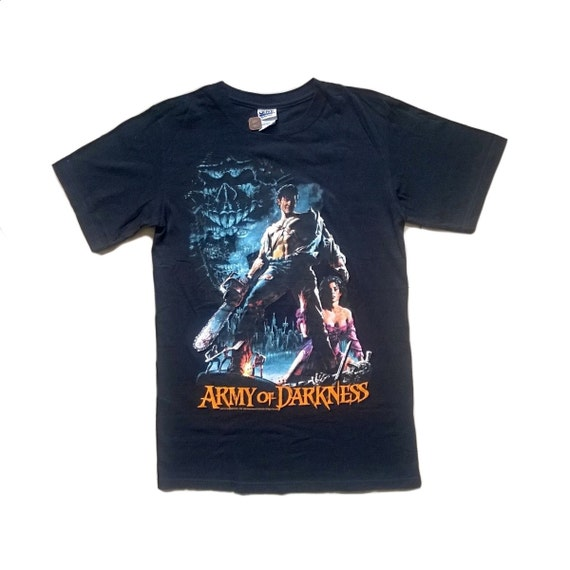 Vintage Evil Dead Army of Darkness t shirt 1993 Sz M cult movie chainsaw hand 90s 1990s SLBrJFvTg