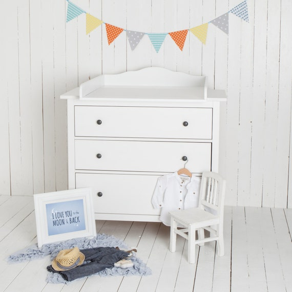 Delicieux Cloud 7 Changing Table Top For IKEA Hemnes Dresser White.