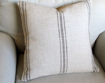 French Laundry  pillow cover BROWN Stripes 20x20 22x22 24x24