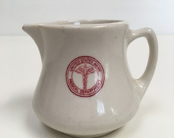 United States Army Medical Department Creamer, Restaurant Ware, 1940's