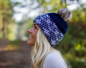 Stylish Knitted Gray Hat Beanie Slouchy Beanie with Pompom Autumn Winter Spring Fashion Accessories Womens Teen Ski hat Baggy
