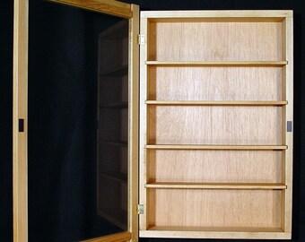 Wall Curio Cabinet, Display Case, Shadow Box