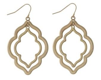 Doubled Macroon Earrings