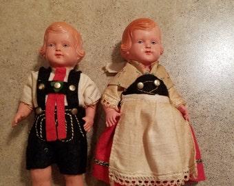 Schoberl & Becker celluloid dolls 1923-1960s