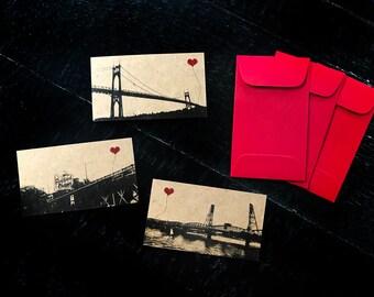 Portland Oregon gift tags set of 3 - Choose from Hawthorne Bridge, Stag Sign, or St John's Bridge